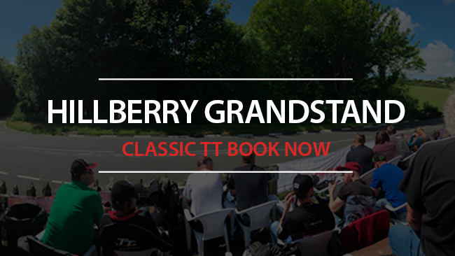 Book now for Classic TT at Hillberry Grandstand
